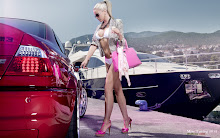 blondes women bmw bikini cars models august high heels necklaces bmw m3 girls with cars 1920x1200 Wallpaper