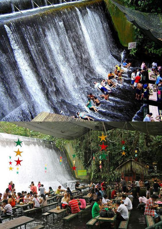 Ресторан под водопадом