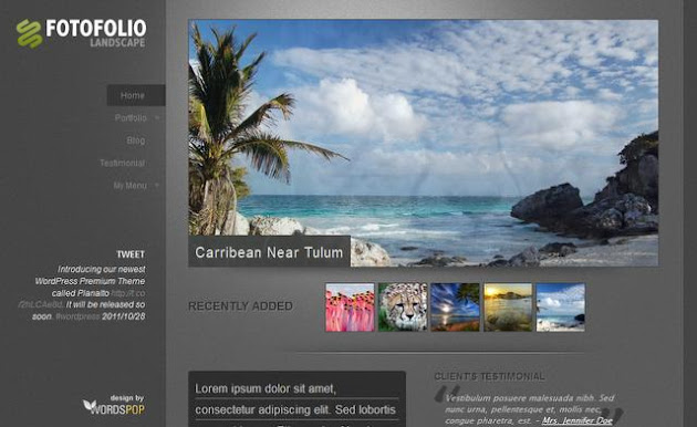 Fotofolio Landscape WordPress Theme