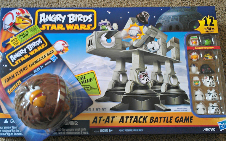 Angry Birds Star Wars Foam Flyer and AT-AT Attack Battle Games