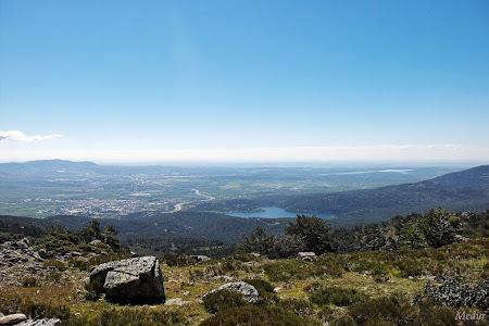 Vistas de Madrid bajando del cerro piñonero