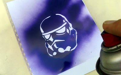 Stencil clone trooper