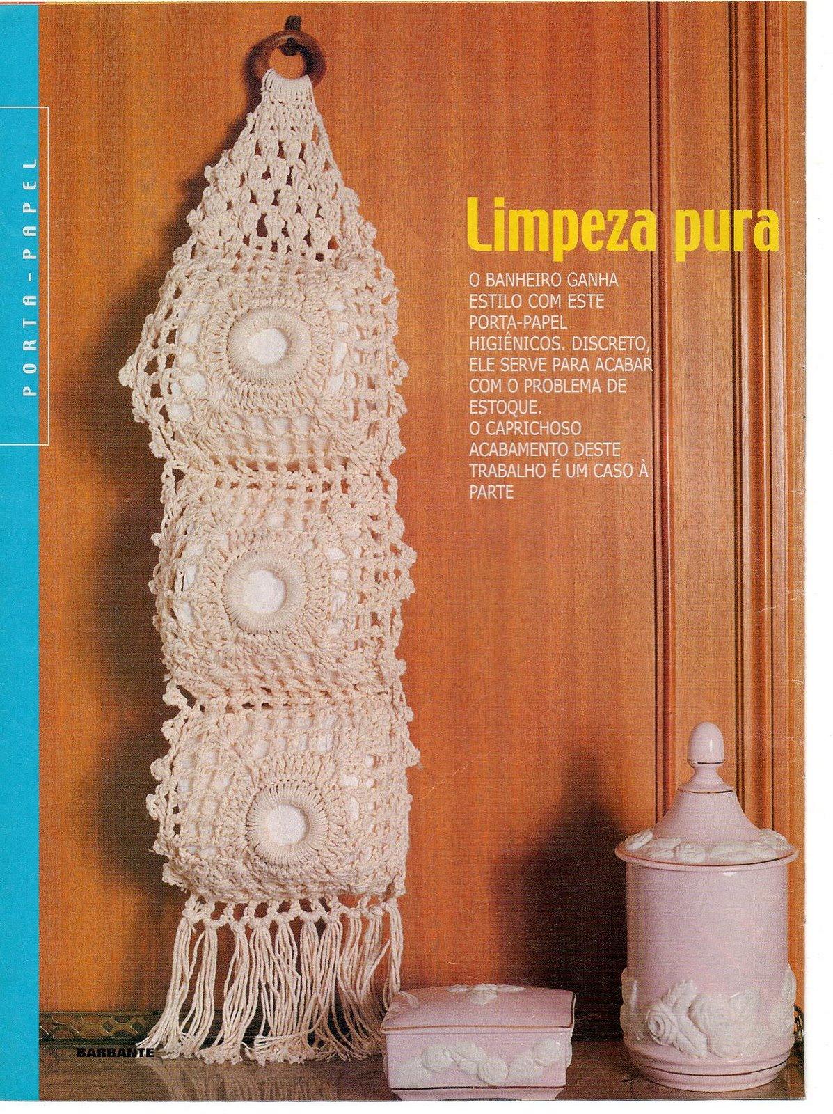 Organizador De Baño En Crochet:Tejiendo a crochet con Gaby: Porta papel higiénico