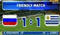 Goles Rusia Uruguay  [1 - 1] amistoso 25 mayo