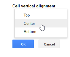 Centering the vertical alignment