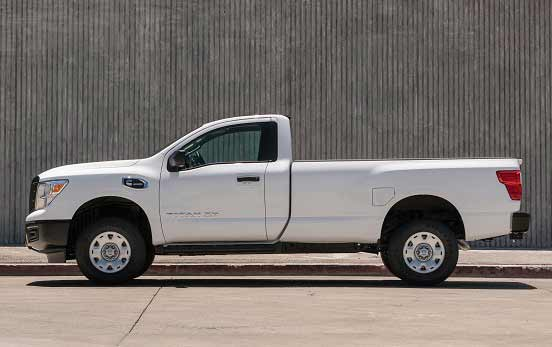 2017 Nissan Titan single-cab model with 390 hp
