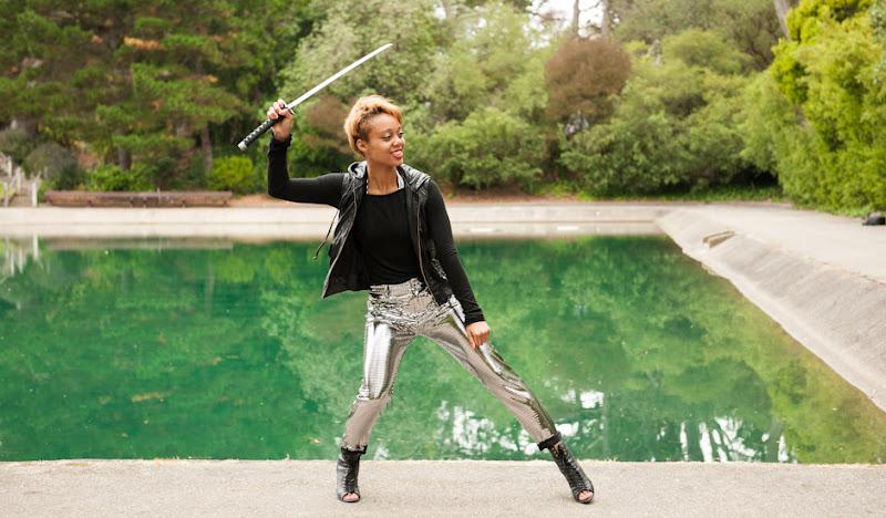 Women's Disco Pants with Sword