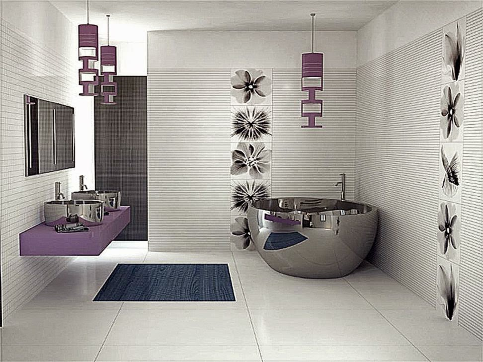 Designer Bathroom Wallpaper Minimalist Interior