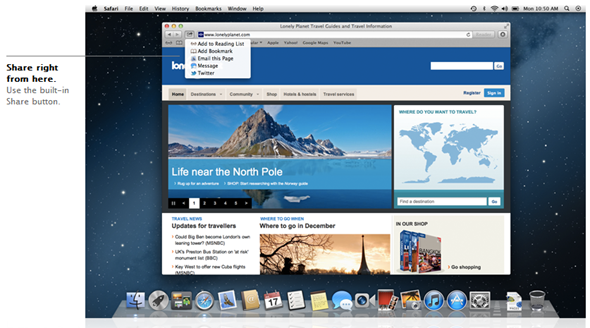 Share Top 10 New Features in Apple OS X Mountain Lion