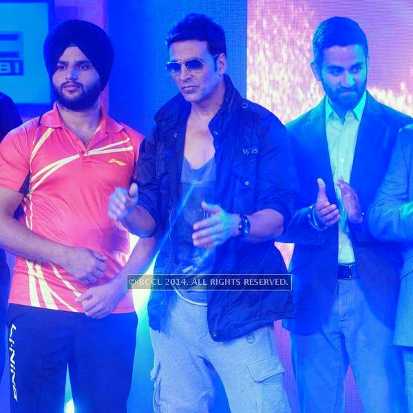 Akshay Kumar during the launch of World Kabaddi League, held at Le Meridian, New Delhi, on July 24, 2014.