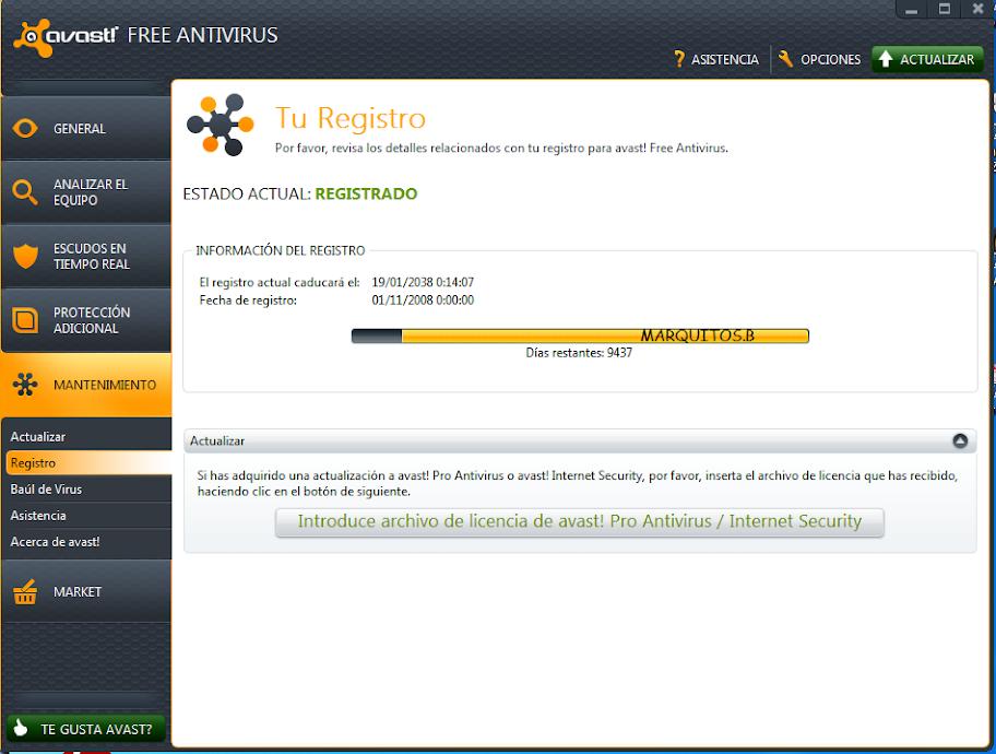 Descargar Avast 7 + Licencia [Espa�ol] [DF] - Todo Taringa