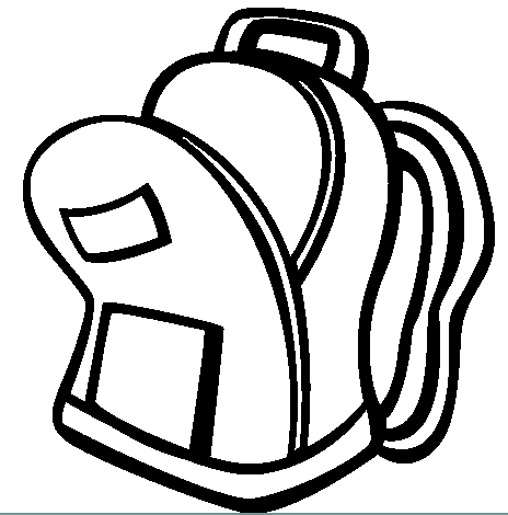 backpack, free coloring pages   Coloring Pages