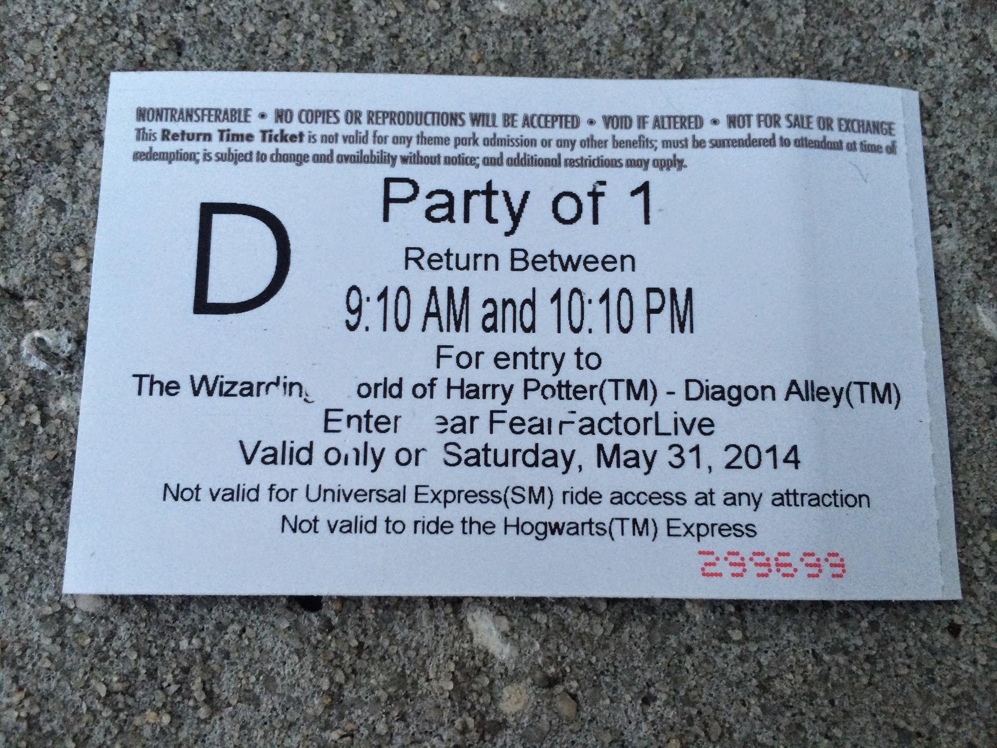 PotterWatch: London Waterfront Lighting, Diagon Alley Return Tickets