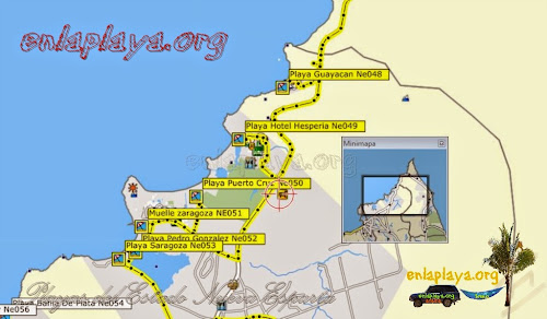 Mapa de Playas del sectorPedro Gonzalez