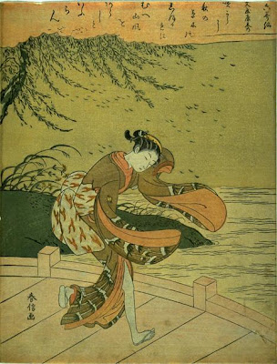 A Storm, from the series The Six Famous Poets (Furyu rokkasen) 1724-1770 Harunobu