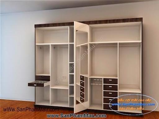 Các mẫu tủ quần áo bằng gỗ công nghiệp-8