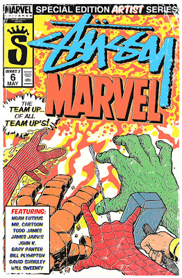 Marvel Comics x Stussy Clothing Collection Series 2 Promotional Art