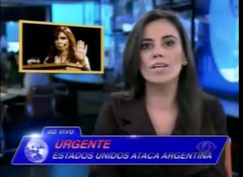 Plantão de Notícias do CQC anuncia ataque dos EUA a Argentina