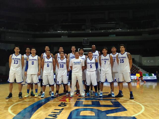 Gilas Pilipinas final 12-man lineup (Fiba Asia 2013)