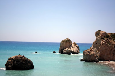 Boulders in the sea in Cyprus
