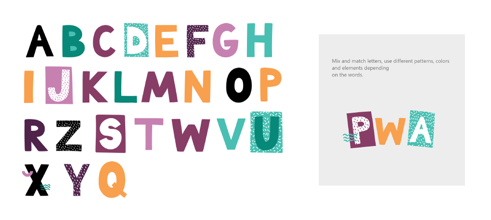 Illustrations from DPDK, showcasing the typography used in its inclusive design system.