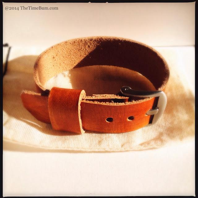 Eakin Street Studio leather NATO watch strap