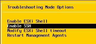 Activar SSH en servidor VMware ESXi mediante consola de gestión