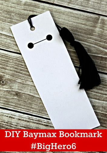 DIY Big Hero 6 Baymax Bookmark