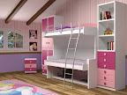 Dormitorios con muchos cajones, libreria, armario y 2 camas abatibles