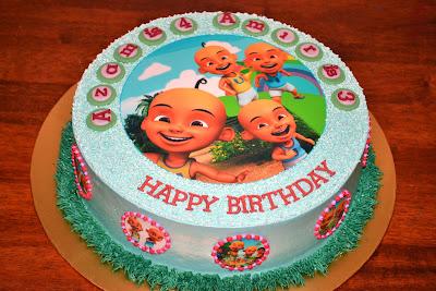 MyPu3 Cake House Upin Ipin Edible image cake