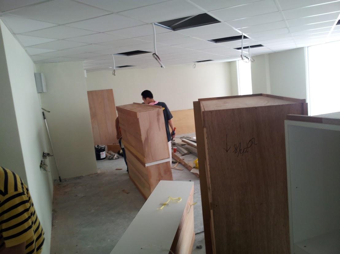 installing cabinet