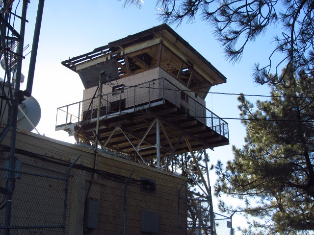 La Cumbre Peak fire lookout