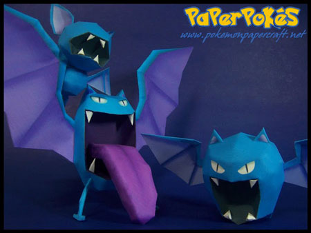 Pokemon Golbat Papercraft
