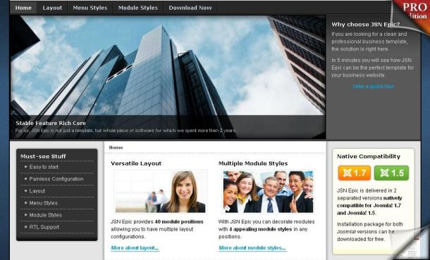 Free Jquery Gray Business Joomla Theme Template