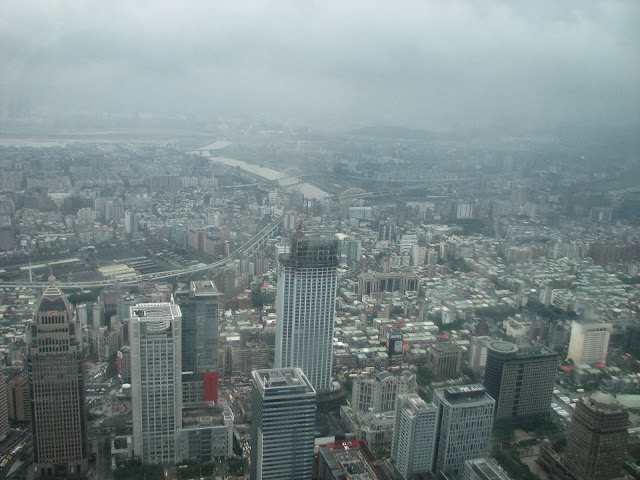 Taipei with Kids: View from Taipei 101 on a cloudy day - still impressive!