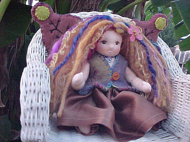 "Custom  9"" Waldorf Fairy Doll"