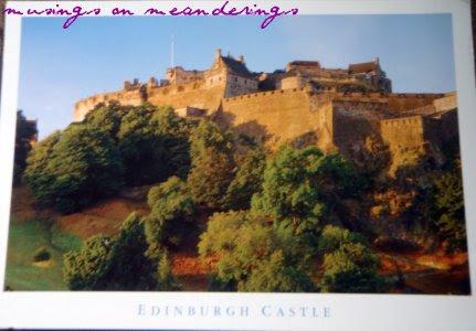Edinburgh, postcards, direct swap