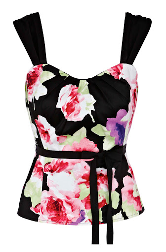 Flower Print Cotton Bustier Top by Coast