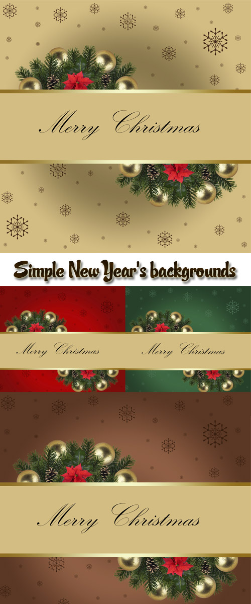 Simple New Year's backgrounds with gold spheres