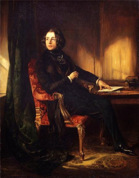 Daniel Maclise - Charles Dickens, 1839