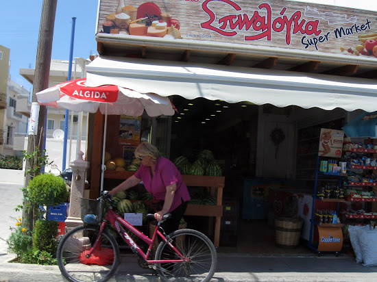 rowerem na różowych zakupach