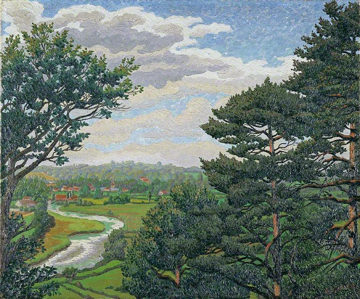 Charles Ginner - The Avon, near Salisbury
