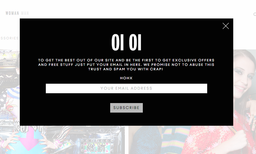 9 examples of inspired ecommerce popup design3) house of holland
