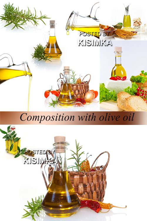 Stock Photo: Composition with olive oil