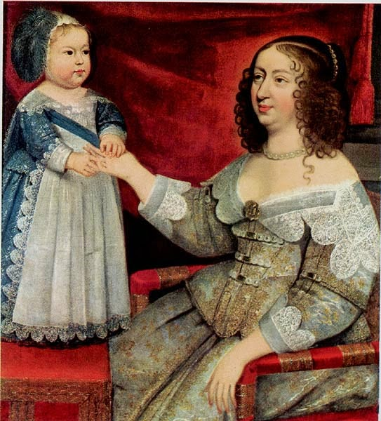 Unknown - Anna of Austria with her son Louis XIV