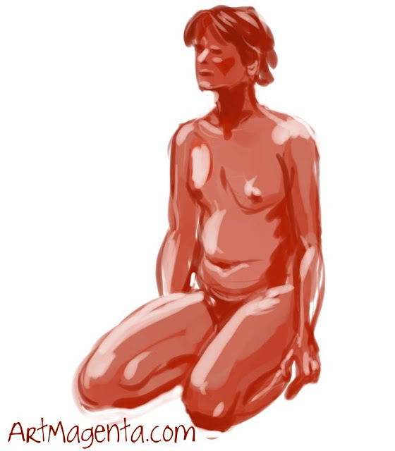 Life drawing from ArtMagenta.
