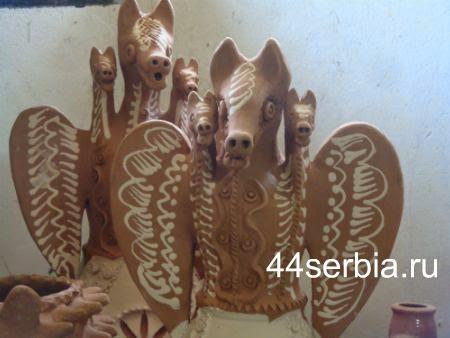 Трёхглавые змеи, керамика