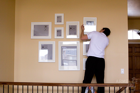 the making of a gallery wall …   Armelle Blog