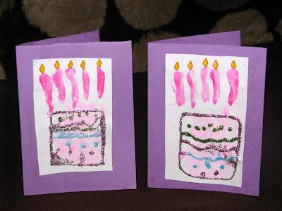 Hand Print Birthday Cake Card Craft To Art