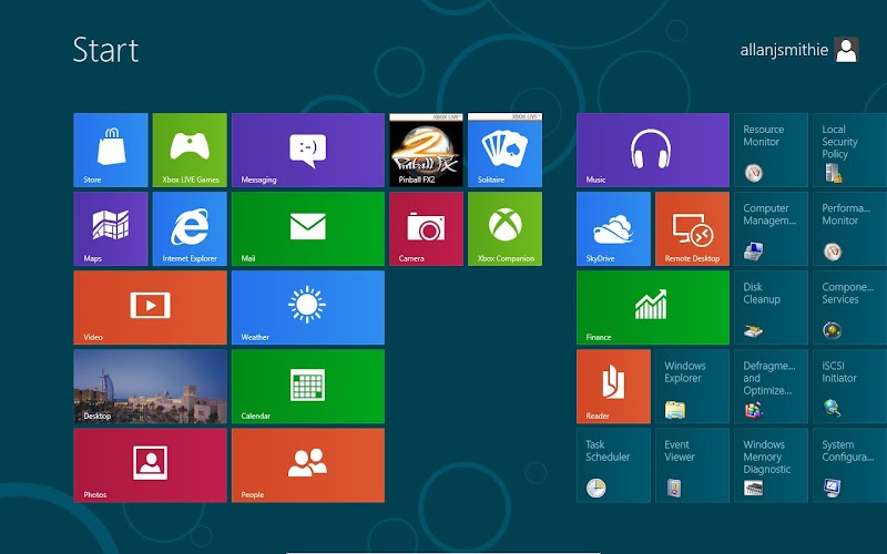 Windows 8 Consumer Preview Metro UI